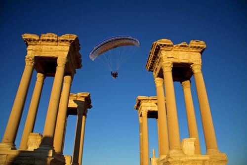 Les fameuses 4 colonnes de Palmyre.