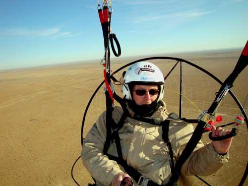 le désert à perte de vue, et il fait 0°....