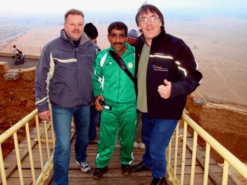 Notre ami Irakien avec Pat et JMi.