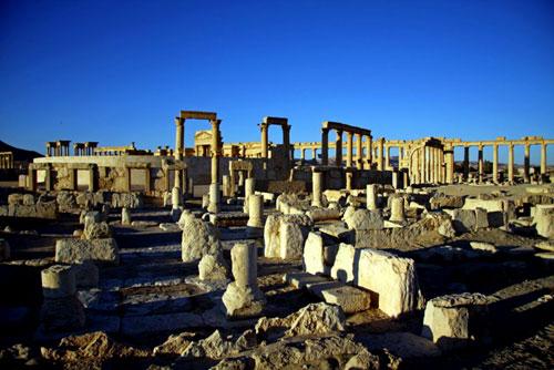 Les superbes ruines de la cité antique.