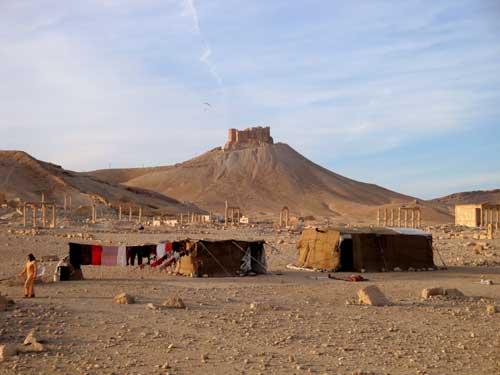 Un campement au milieu de 500 ans d'histoire..
